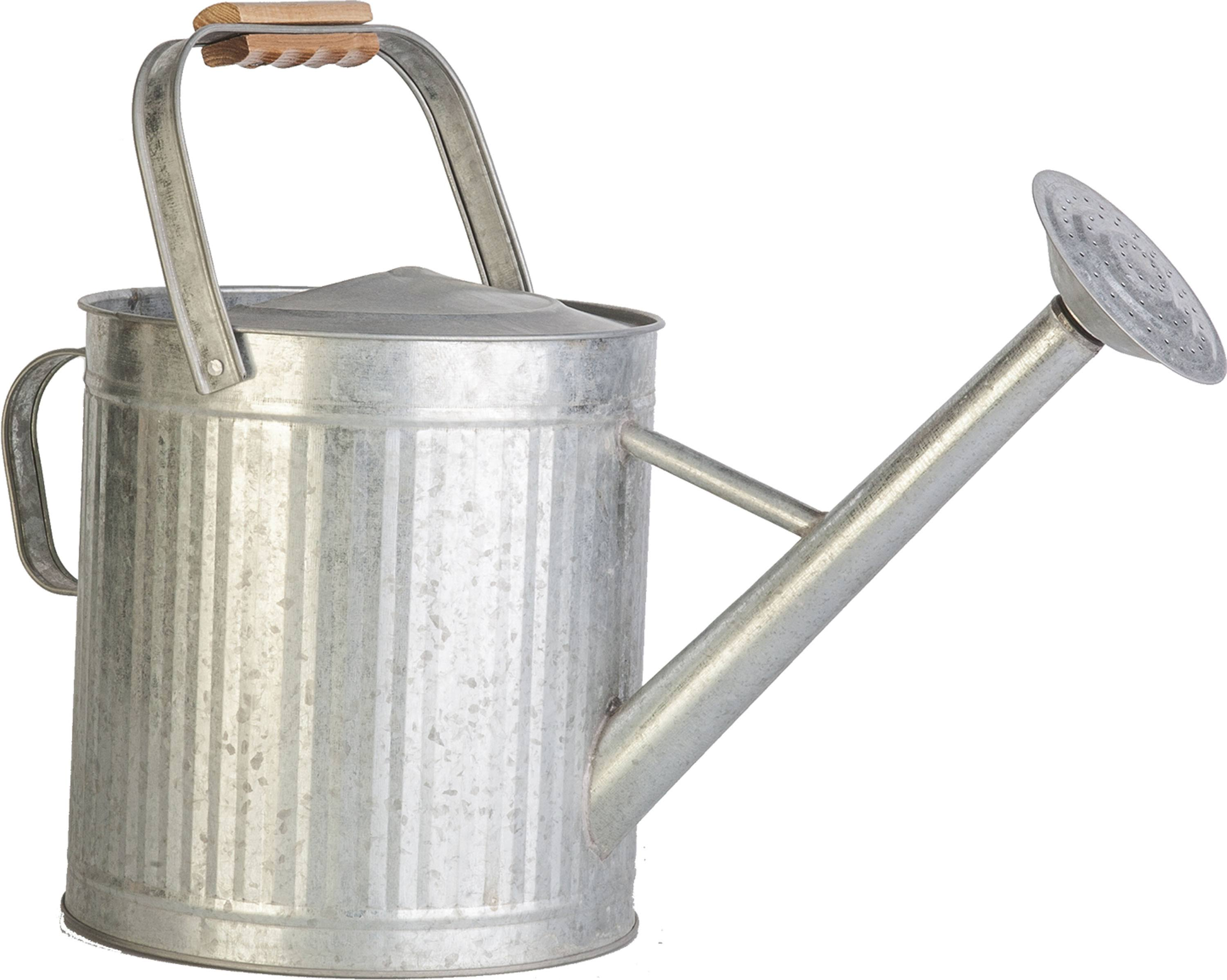 Panacea Vintage Watering Can - Galvanized, with Wood Handle, 2gal
