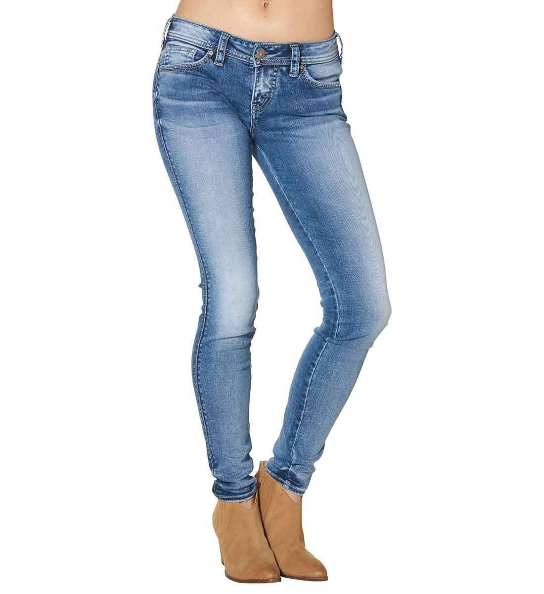 Silver Jeans Co. Aiko Mid Rise Super Skinny Jeans