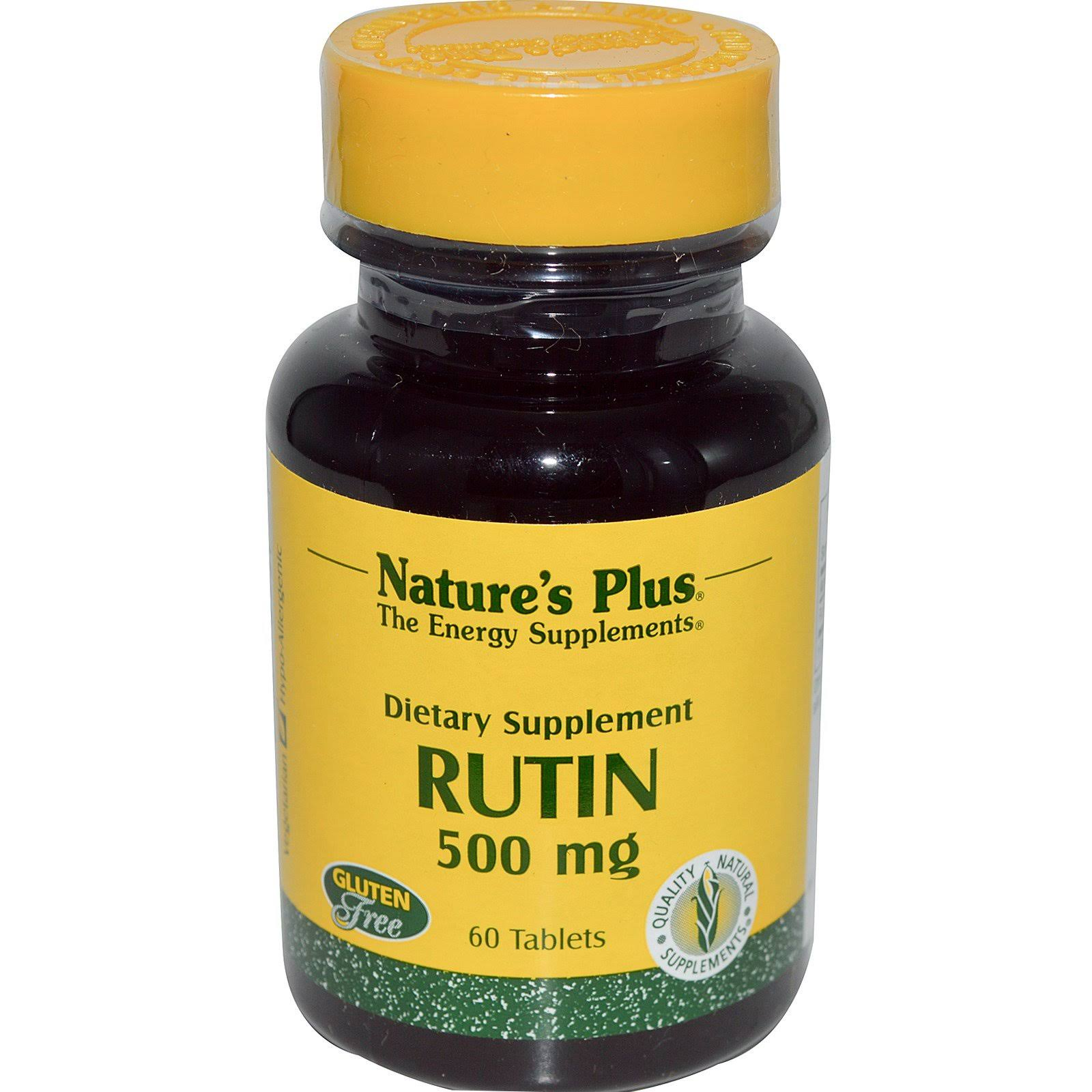 Nature's Plus Rutin Supplement - 500mg, 60 Tablets