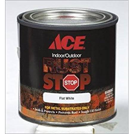 Ace Rust Stop Oil Based Enamel, Black - 0.5 pint can