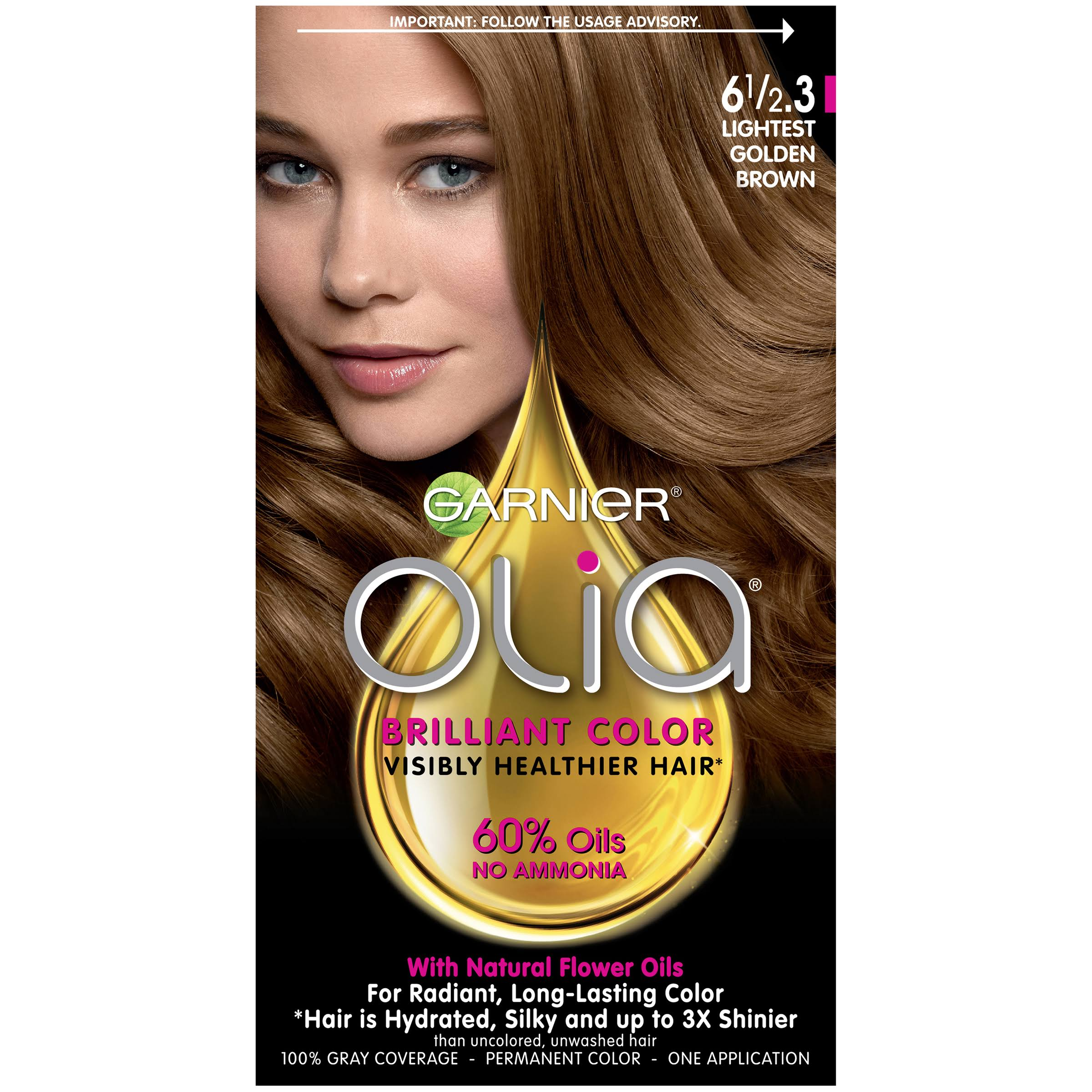 Garnier Olia Oil Permanent Haircolor - 6 1/2.3 Lightest Golden Brown