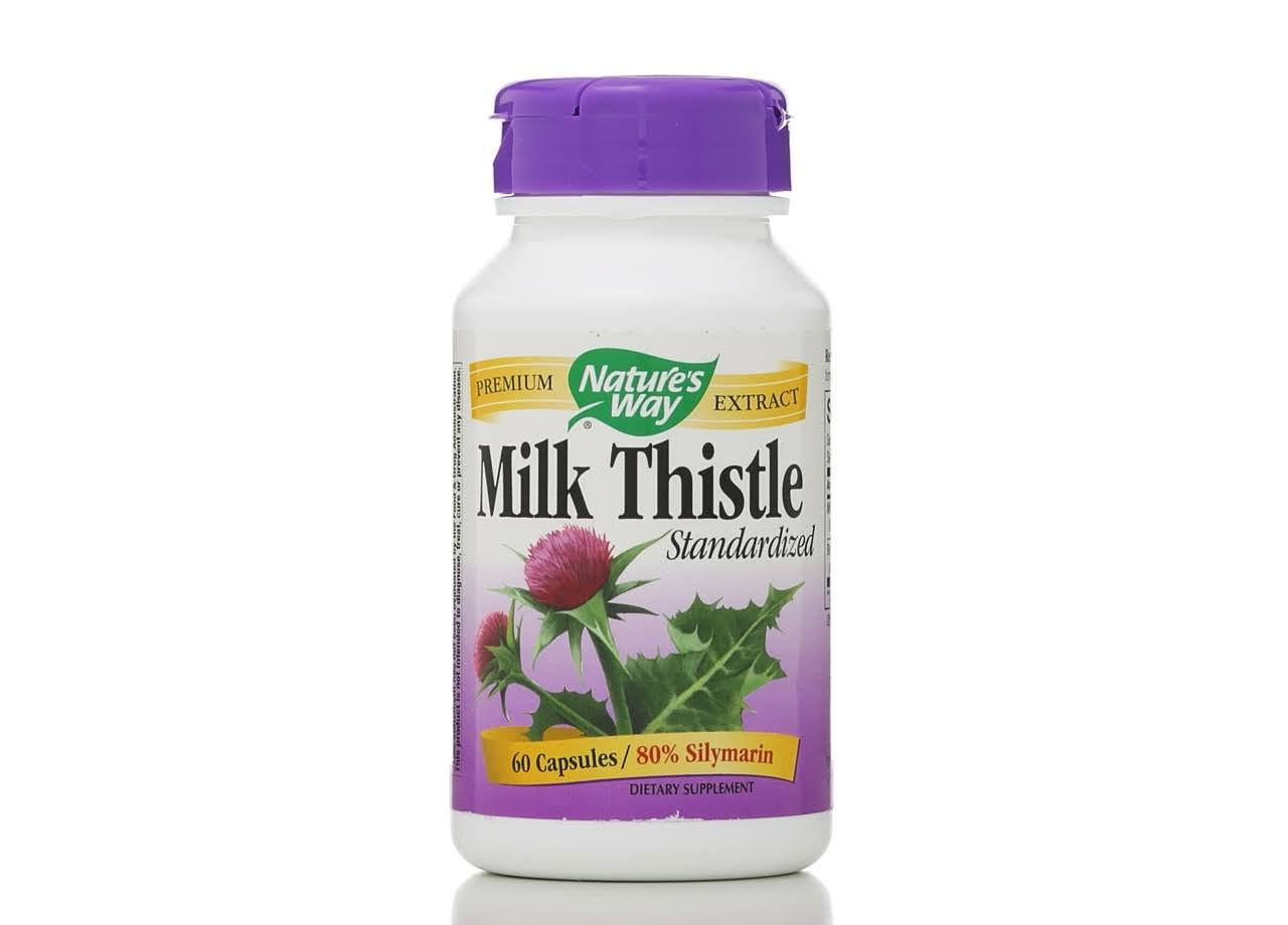 Natures Way Milk Thistle Dietary Supplement - 60 Capsules