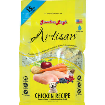 Grandma Lucy's Artisan Freeze Dried Dog Food - Chicken, 3lb