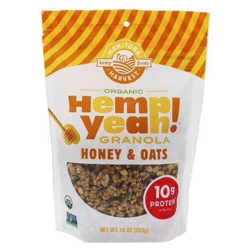 Manitoba Harvest Hemp Yeah! Granola, Organic, Honey & Oats - 10 oz