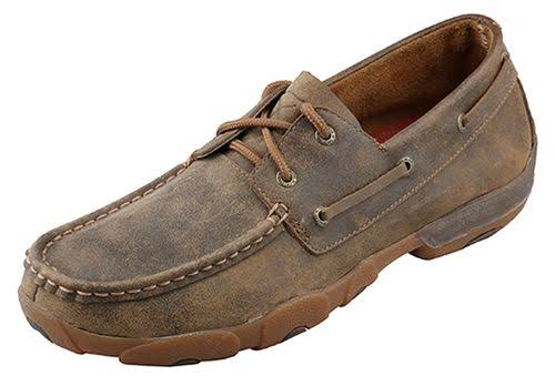 Twisted X Men's Lace-Up Driving Moccasins - Brown, 11 USM