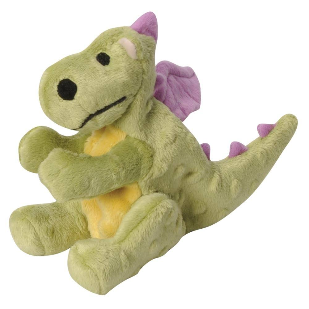 GoDogGo Dragon Tough Plush Dog Toy - with Chew Guard Technology, Lime, Small