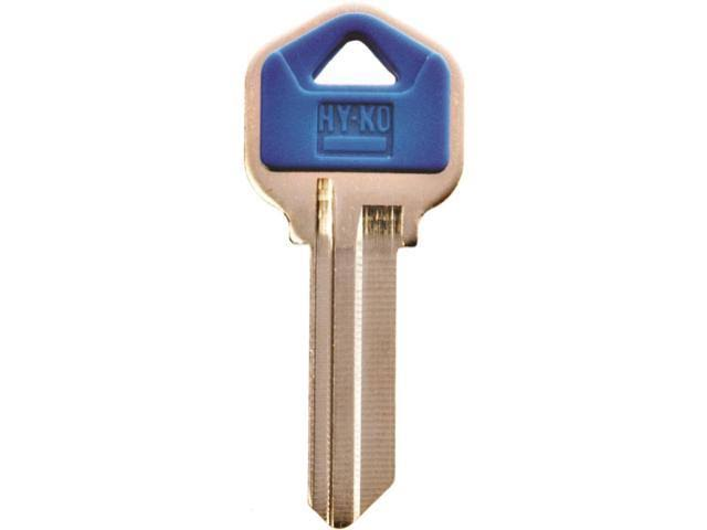 Hy-Ko Blank Cylinder Single Sided Key - Blue