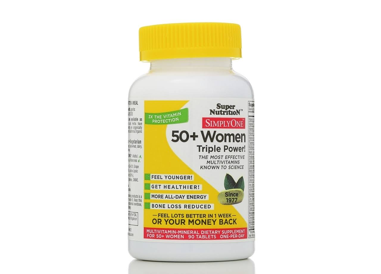 Super Nutrition Simply One 50+ Women's Multivitamin Supplement - 90tabs