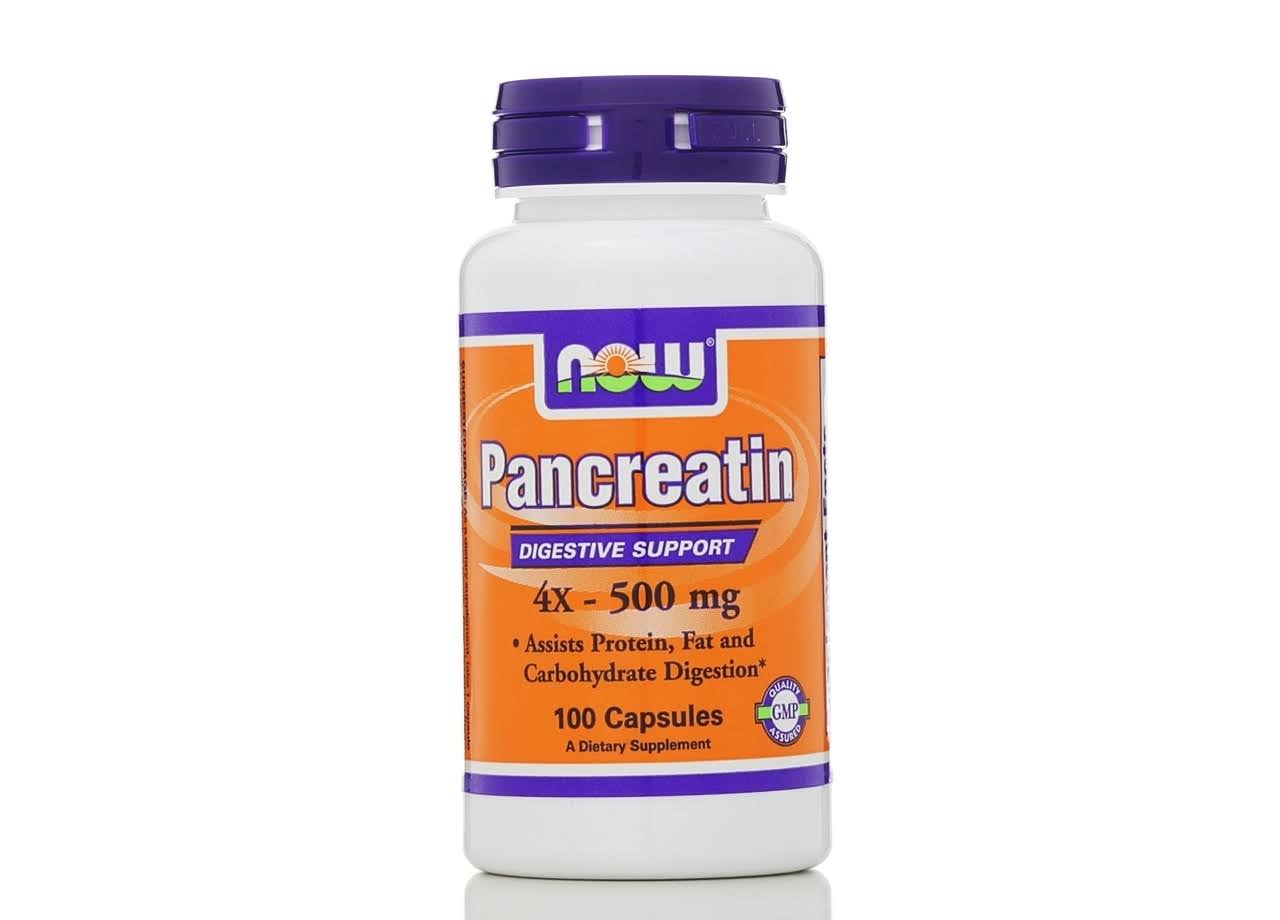 Now Food Pancreatin Digestive Support - 100 Capsules