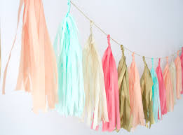 Coral Colored Decorative Items by Coral Peach Mint Gold And Tassel Garland Wedding