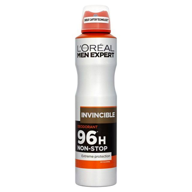 L'Oreal Paris Men Expert Deodorant Spray - Invincible, 250ml
