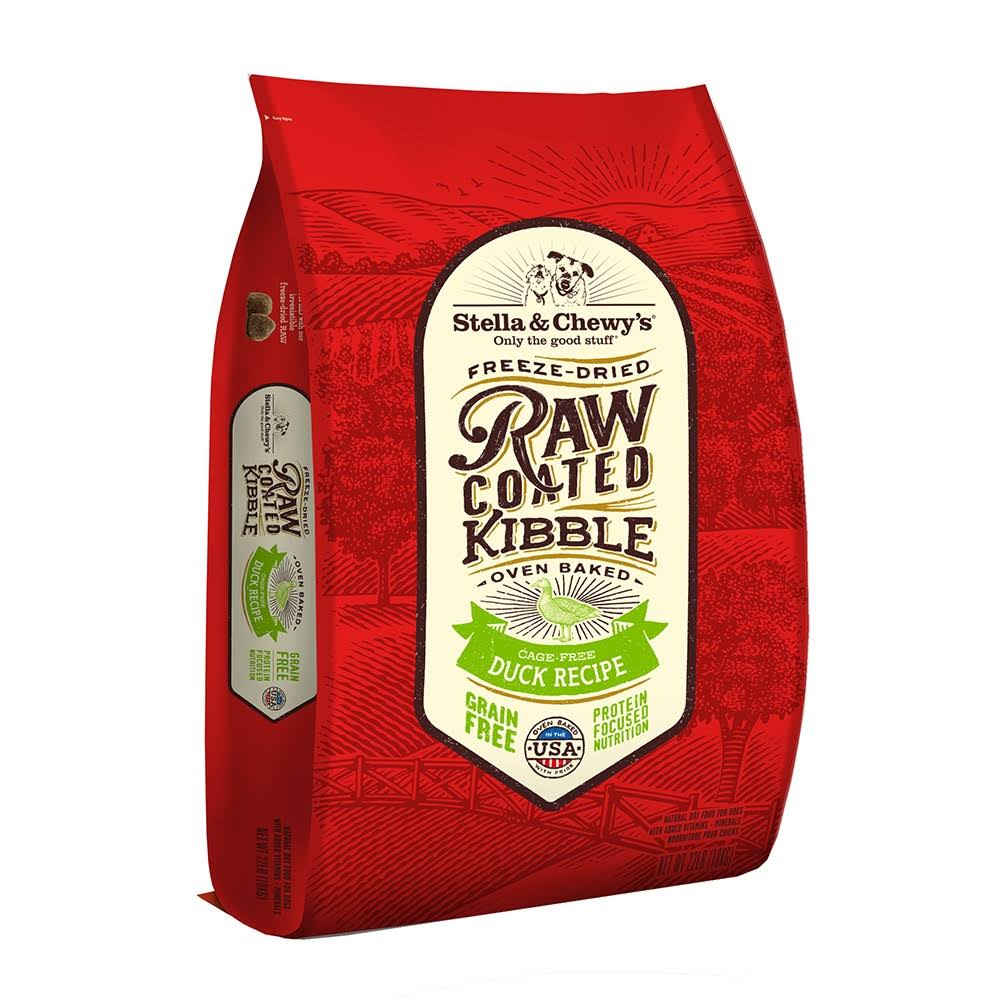 Stella & Chewy's Raw Coated Duck Recipe Dry Dog Food 22 lbs.