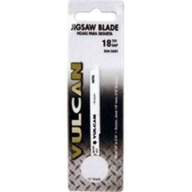 Vulcan 831941or High Quality Jig Saw Blade, 2-3/4 in L, 18 TPI, Universal Shank, High Carbon Steel