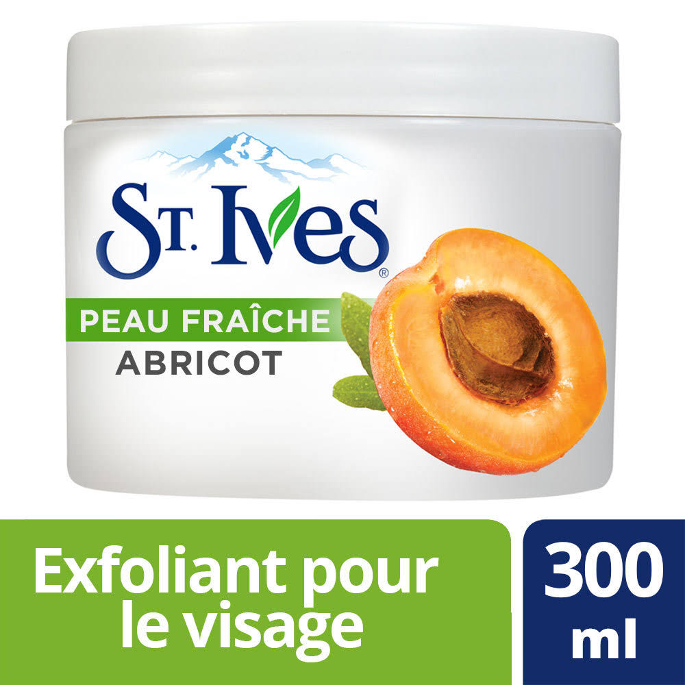 St. Ives Fresh Skin Apricot Exfoliating Facial Scrub 300Ml/10.14 fl oz Imported from Canada