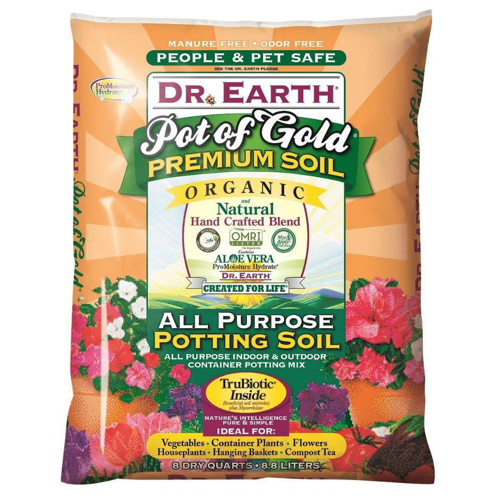 Dr. Earth Organic & Natural Pot of Gold All Purpose Potting Soil - 8qt