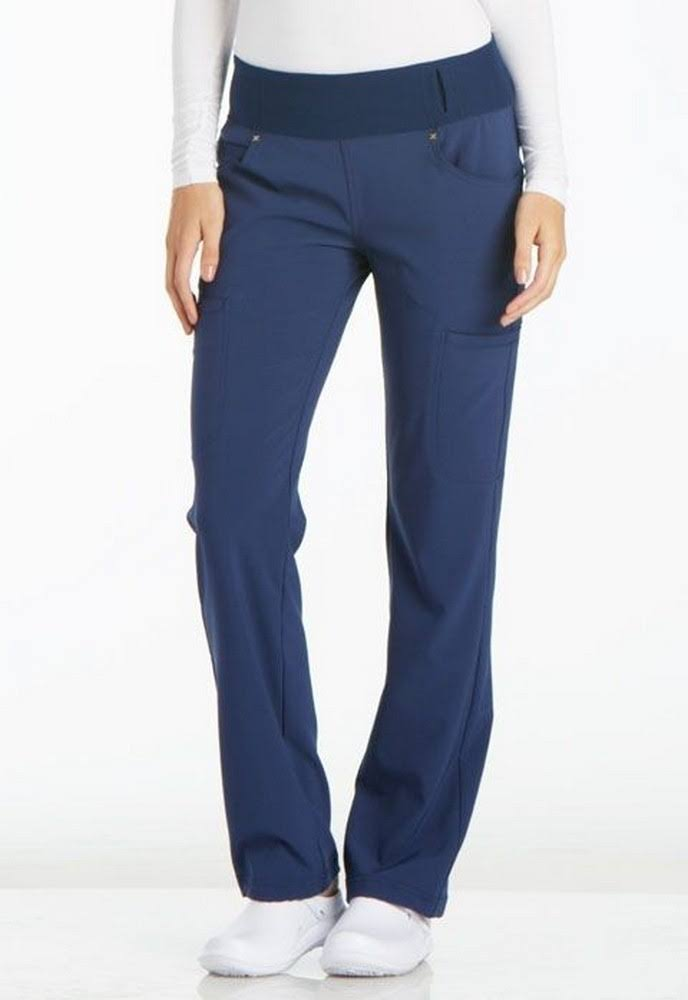 Cherokee CK002 Mid Rise Straight Leg Pull-On Pant - Navy - L