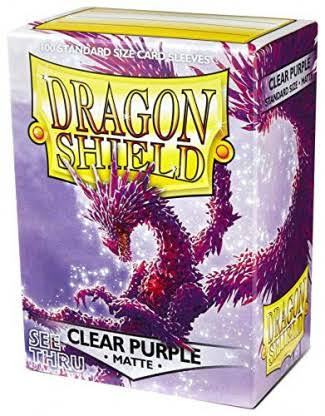 Dragon Shield Card Sleeves - Matte Clear Purple, 100ct