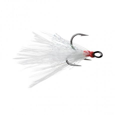VMC Dressed X-Rap Treble Hook - White - #2