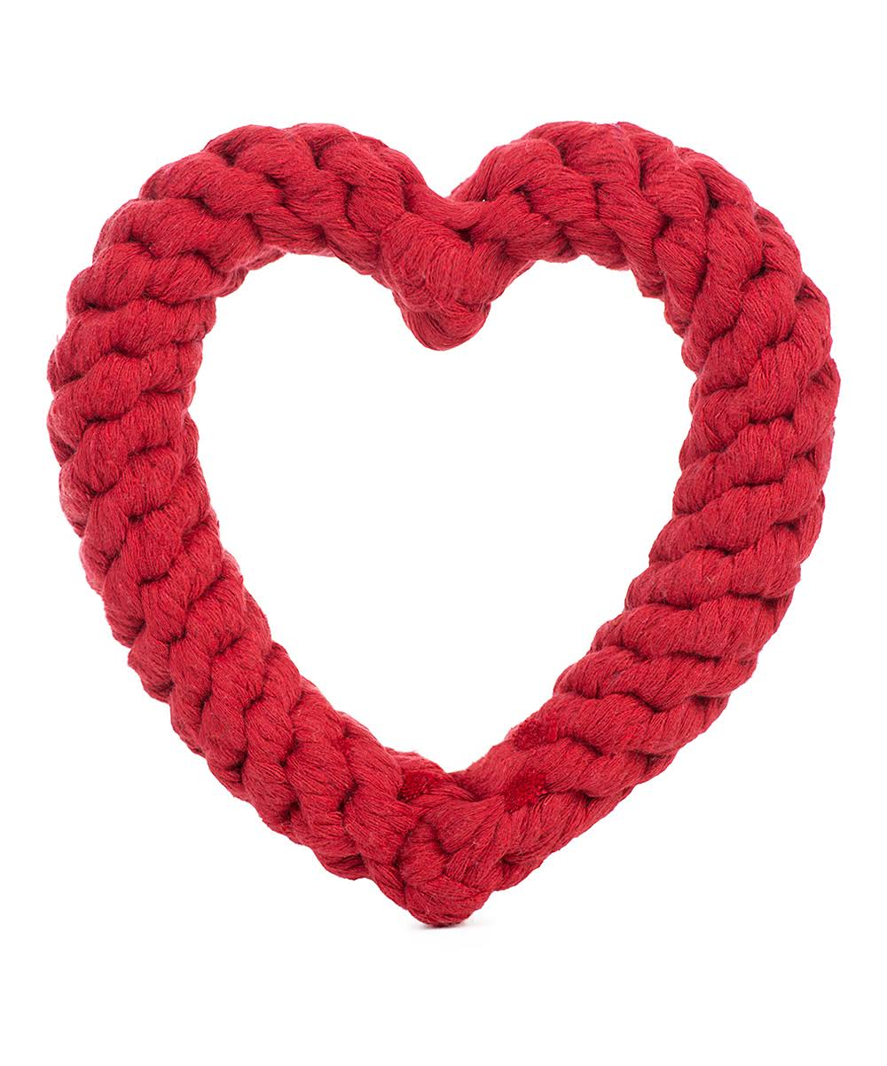 Jax and Bones Heart Rope Toy Red