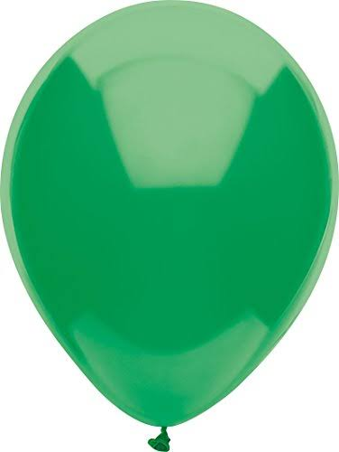 PartyMate 76500 Solid Color Latex Balloons 72-Count Deep Jade
