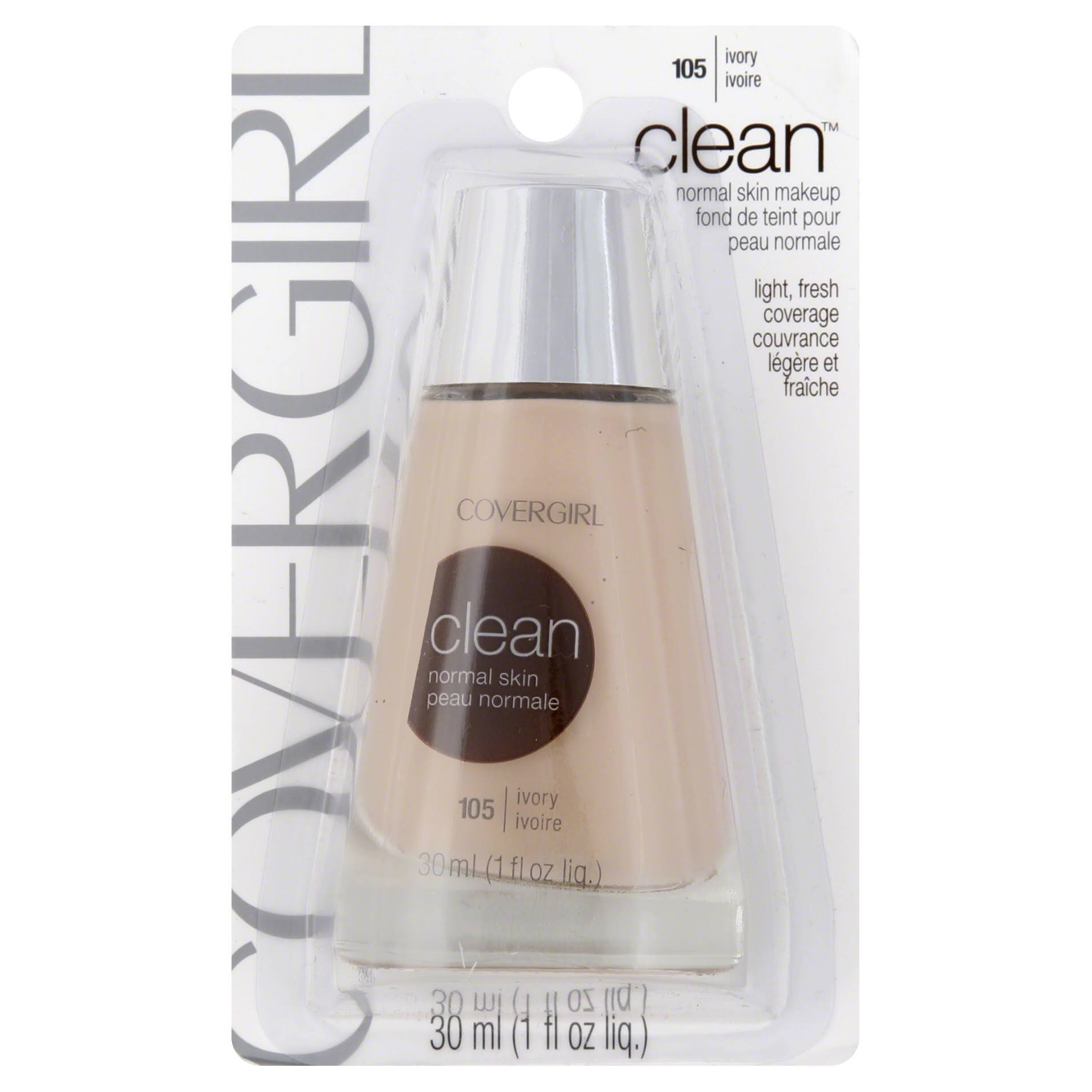 CoverGirl Clean Liquid Foundation, Normal Skin, Ivory 105 - 1 fl oz