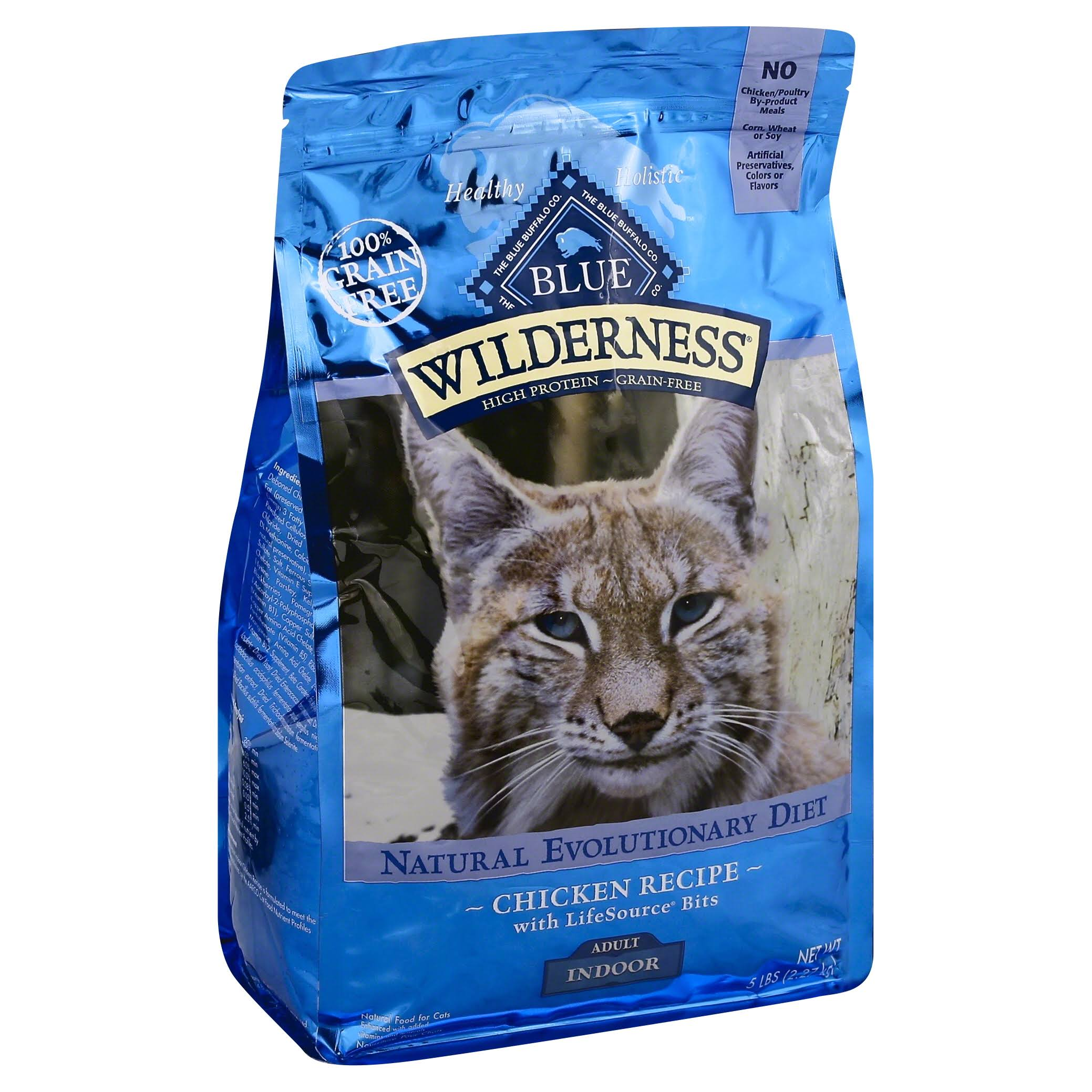 Blue Buffalo Wilderness Adult Indoor Cat Dry Food - Chicken, 5lb