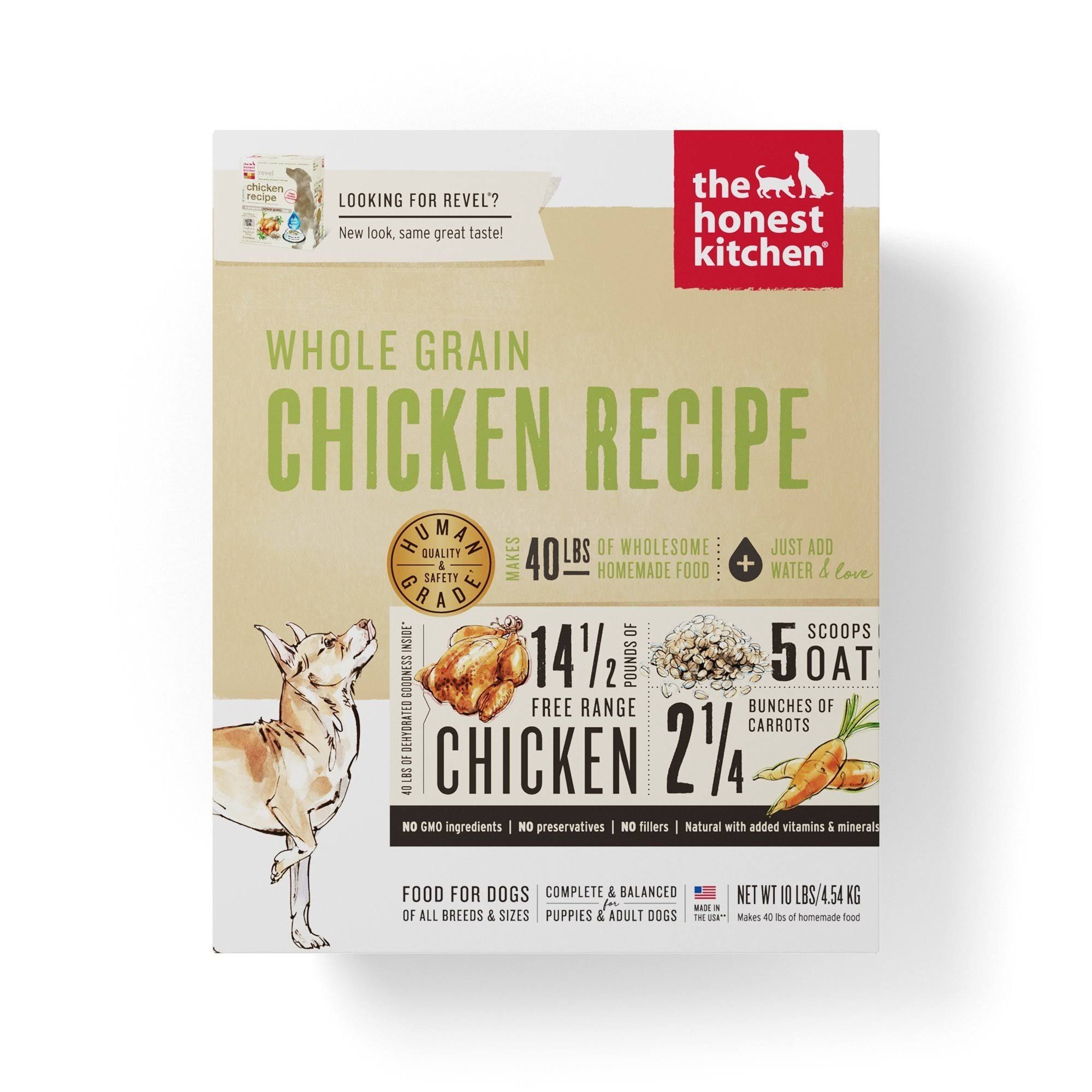 The Honest Kitchen Revel Dog Food - Chicken, 10lb