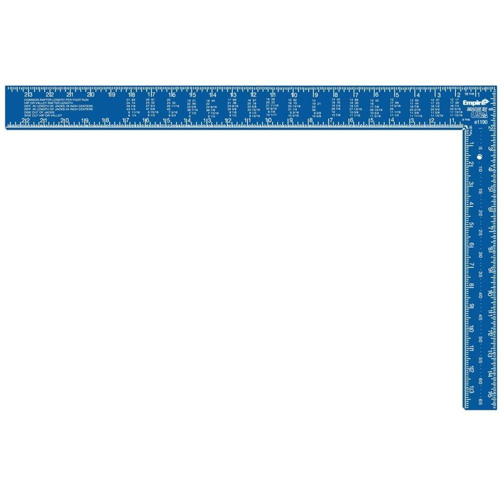 "Empire Level E1190 Professional Framing Square - Blue, 16"" x 24"""