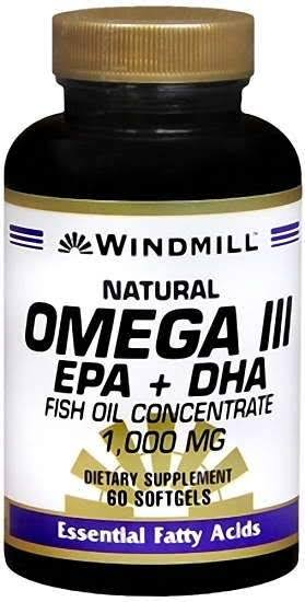 Windmill Omega III EPA DHA Supplement - 1000mg, 60ct