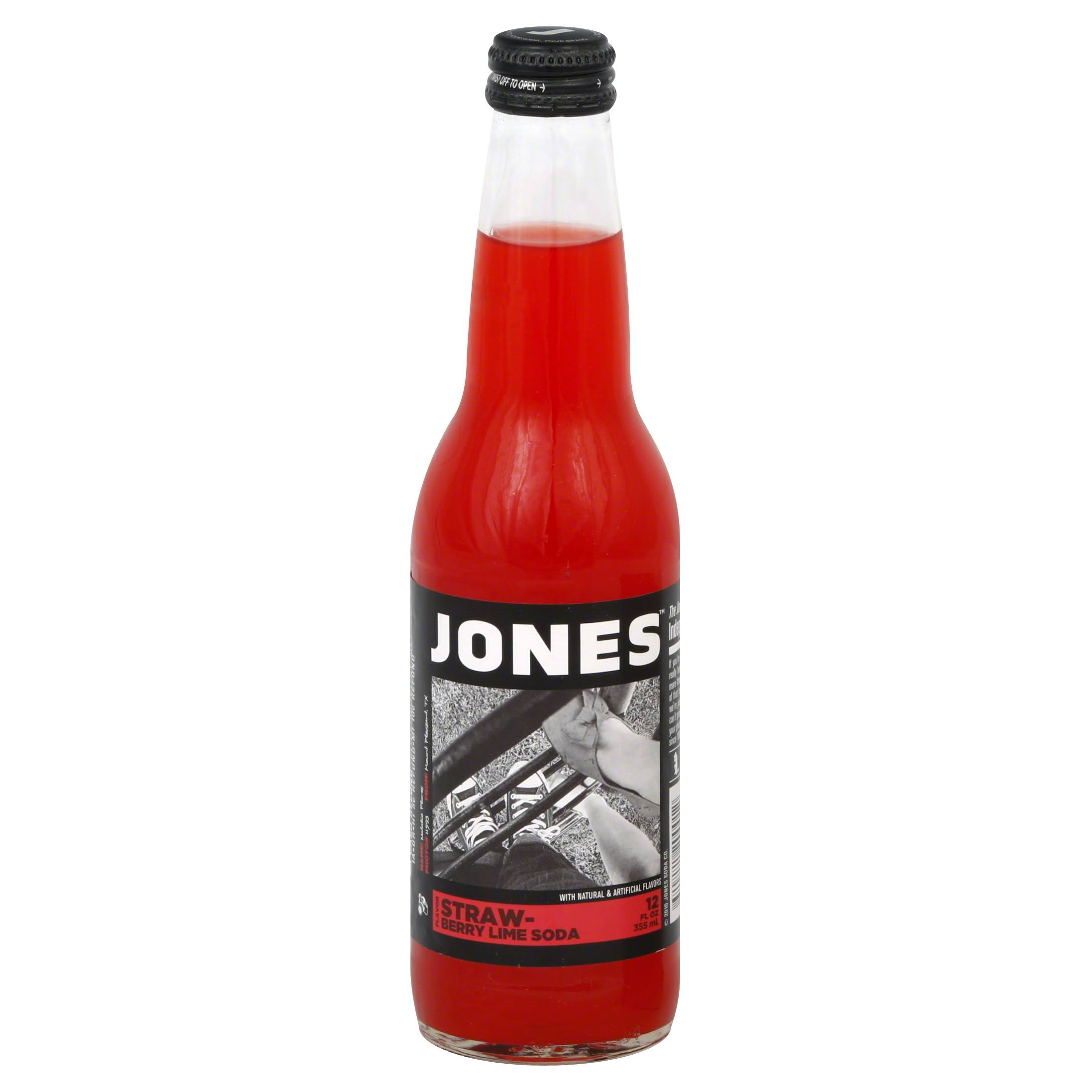 Jones Pure Cane Soda - Strawberry Lime, 354ml