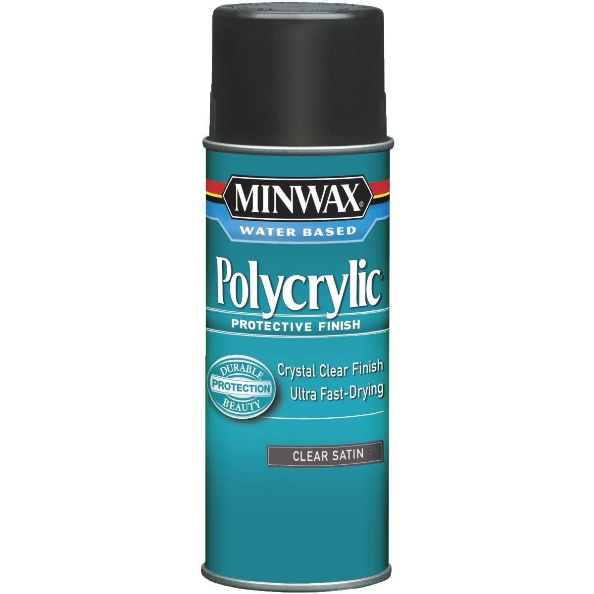 Minwax Polycrylic Water-Based Spray - Clear Satin, 11.5oz