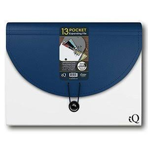 "IQ Ischolar 13 Pocket Expanding Folder - 13"" x 10"""