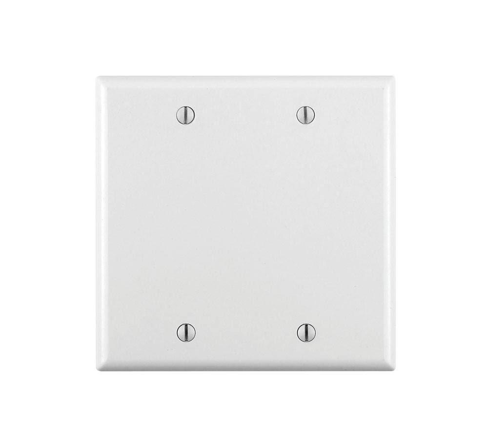 Leviton 2-Gang Blank Wall Plate - White