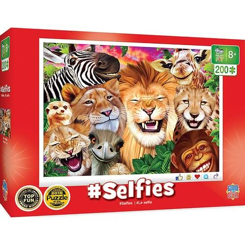 Masterpieces Selfies - Safari Sillies 200pc Puzzle