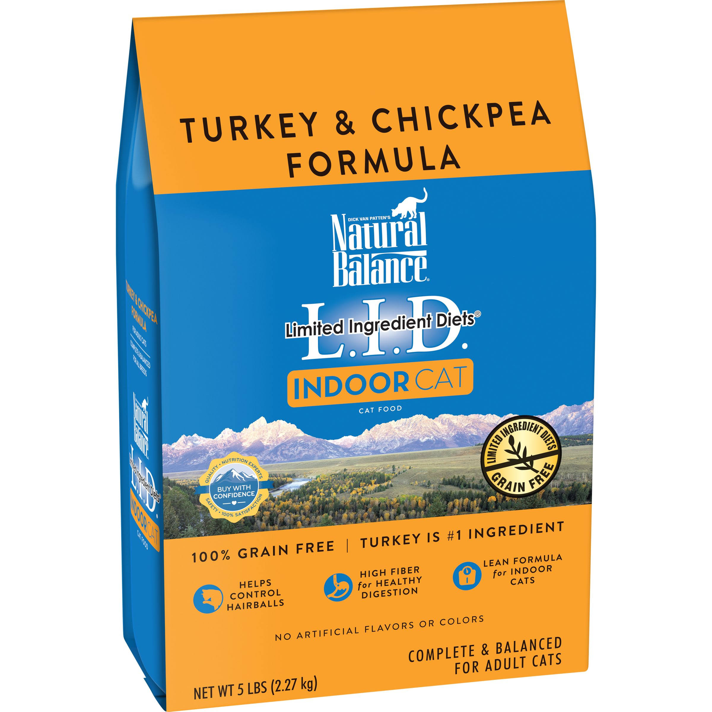 Natural Balance Limited Ingredient Diets Dry Cat Food for Indoor Cats - Turkey and Chickpea, 5lb