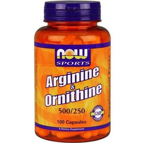 Now Foods Sports Arginine and Ornithine - 100 Capsules