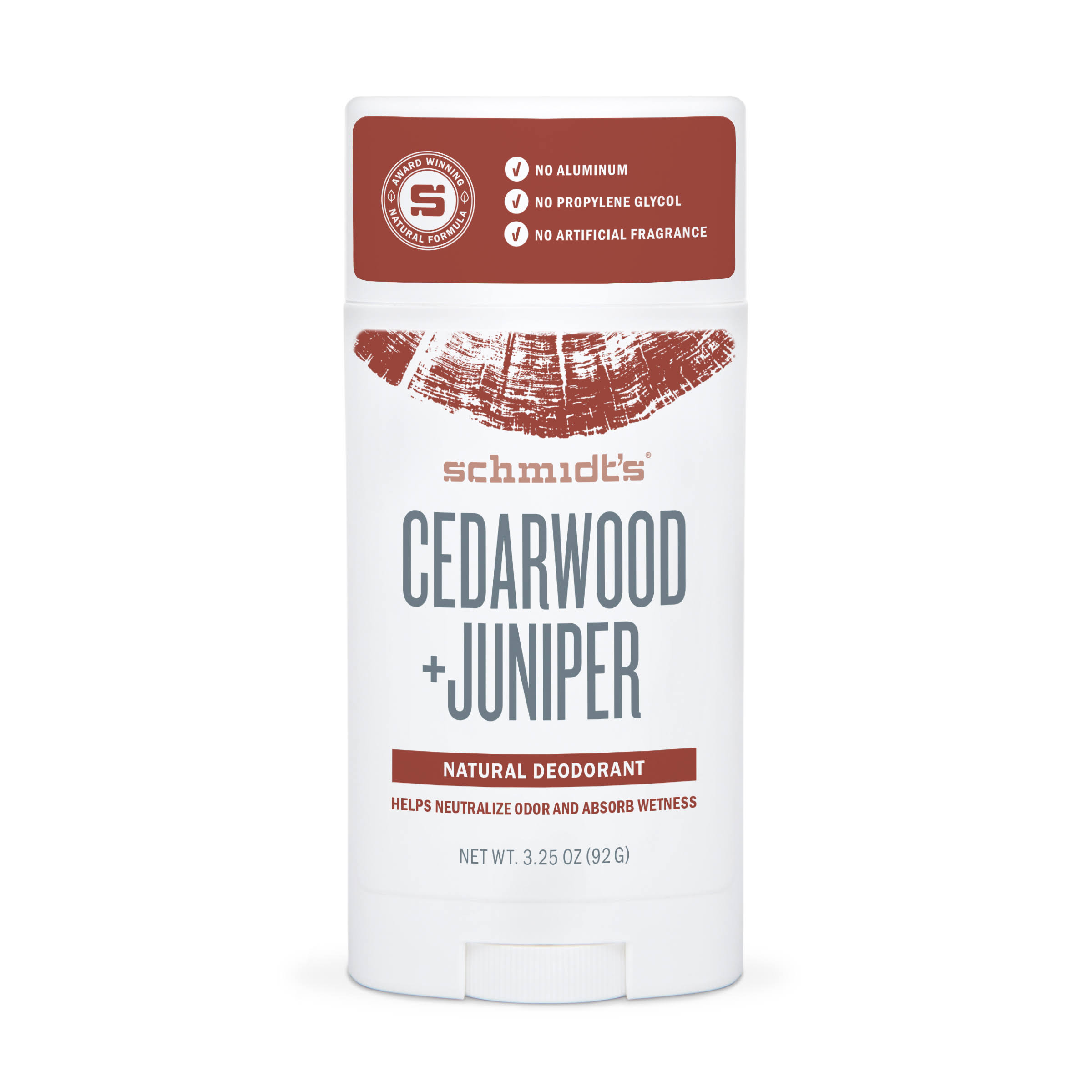 Schmidt's Natural Deodorant Stick - Cedarwood & Juniper, 92g