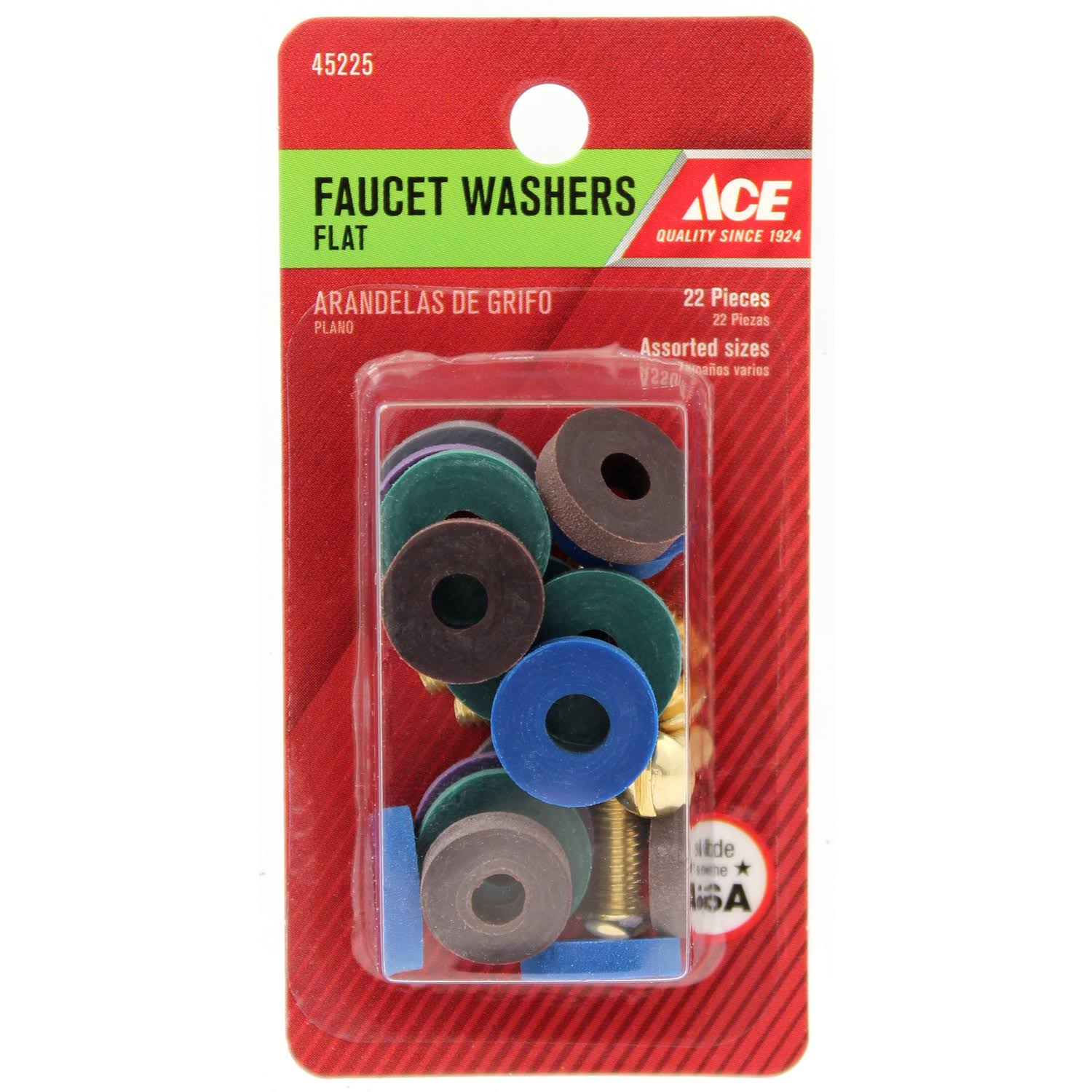 Ace Assorted Flat Faucet Washers 45225