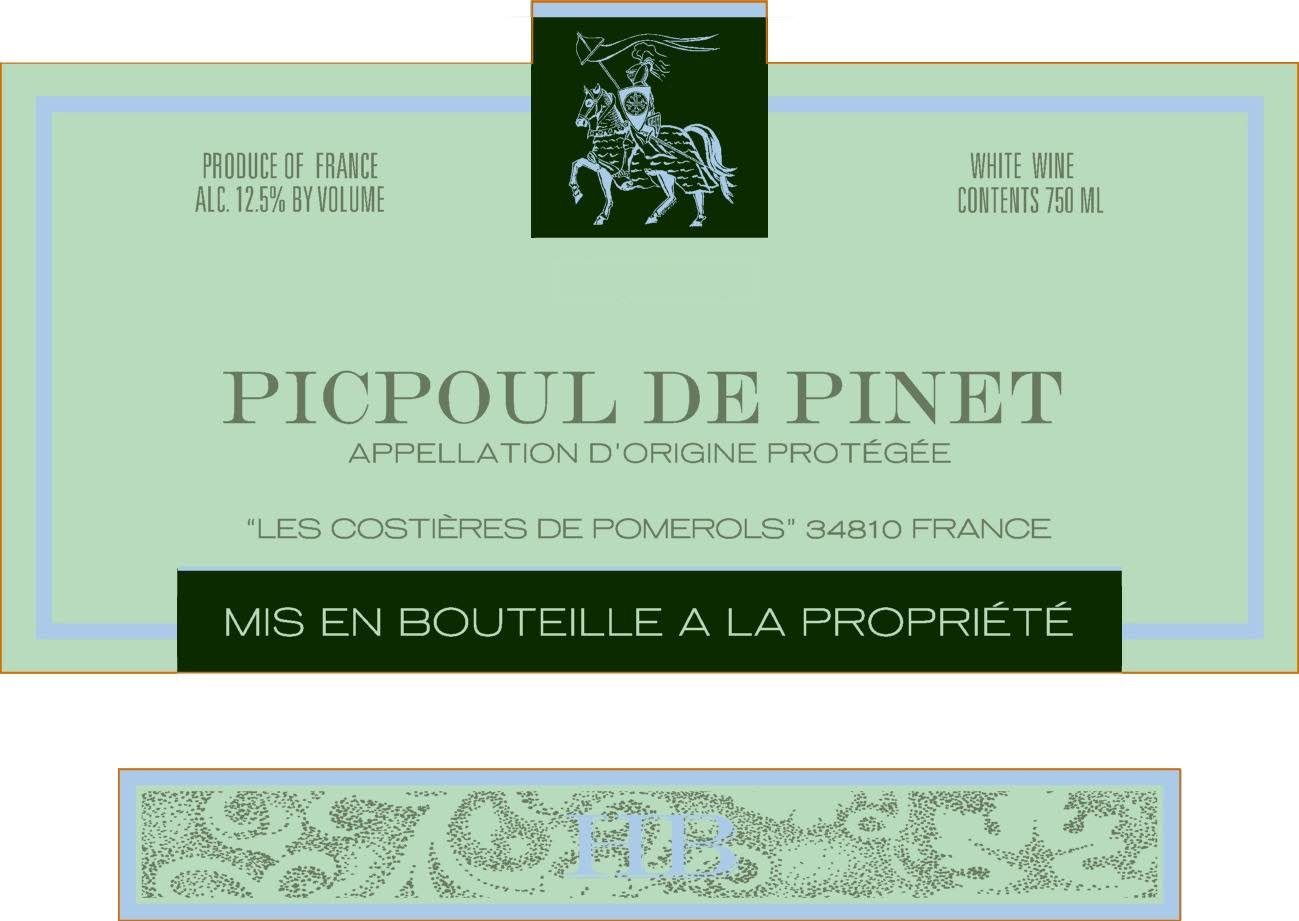 Hughes Beaulieu Picpoul De Pinet, France (Vintage Varies) - 750 ml bottle