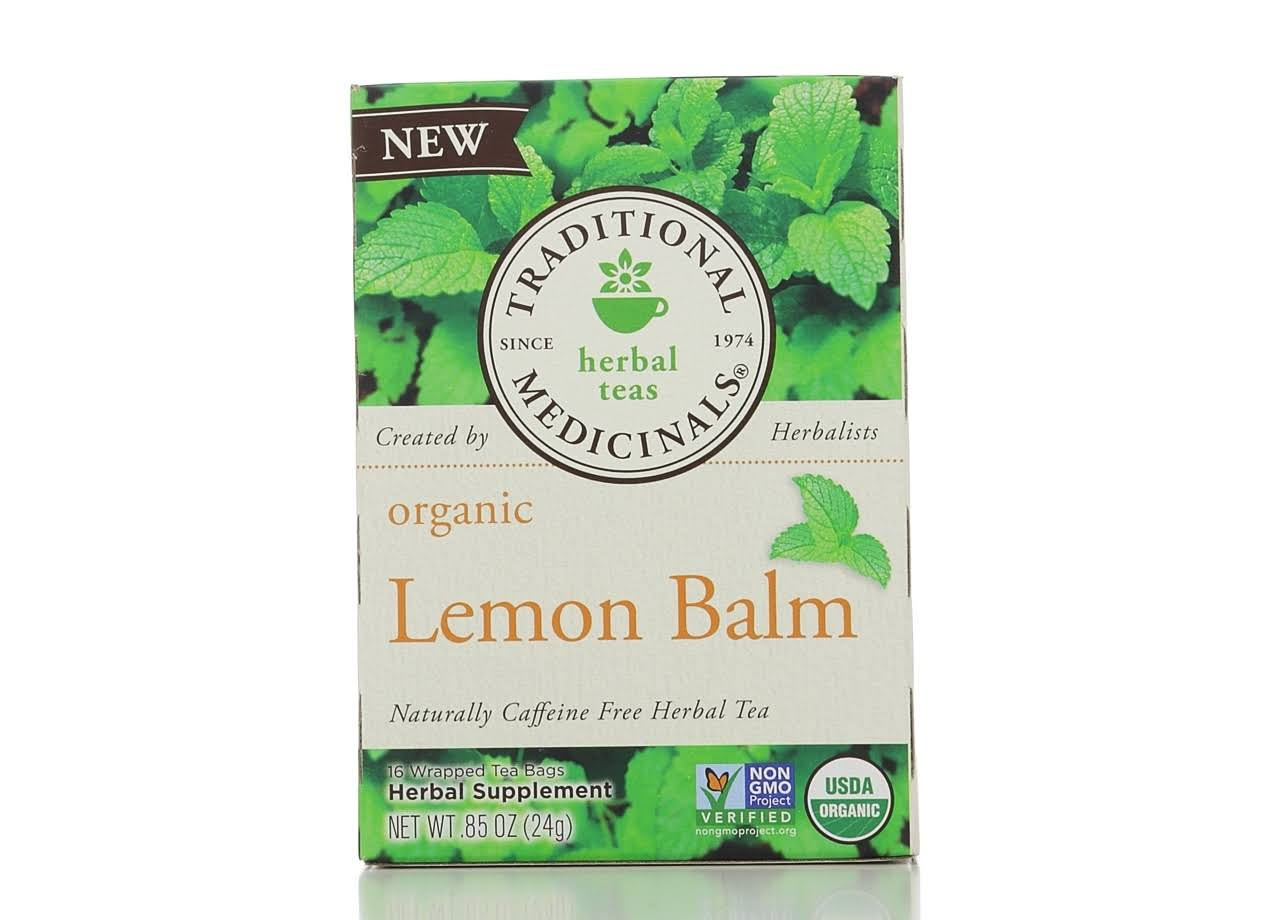 Traditional Medicinals Herbal Teas - Lemon Balm, 16 Bags, 24 Bags