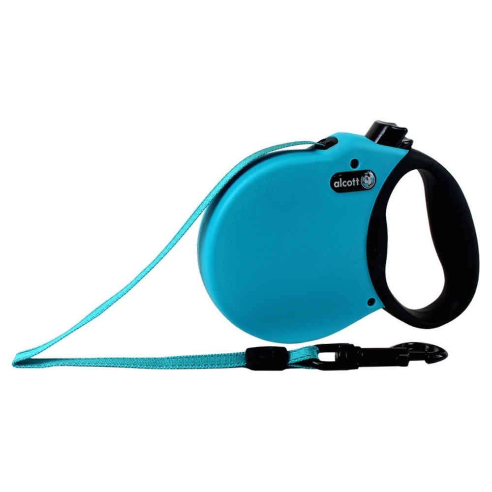 Alcott Adventure Retractable Dog Leash - Blue, Small, 5m