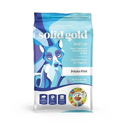 Solid Gold Wolf Cub Puppy Food Formula - Bison and Oatmeal, 4lbs