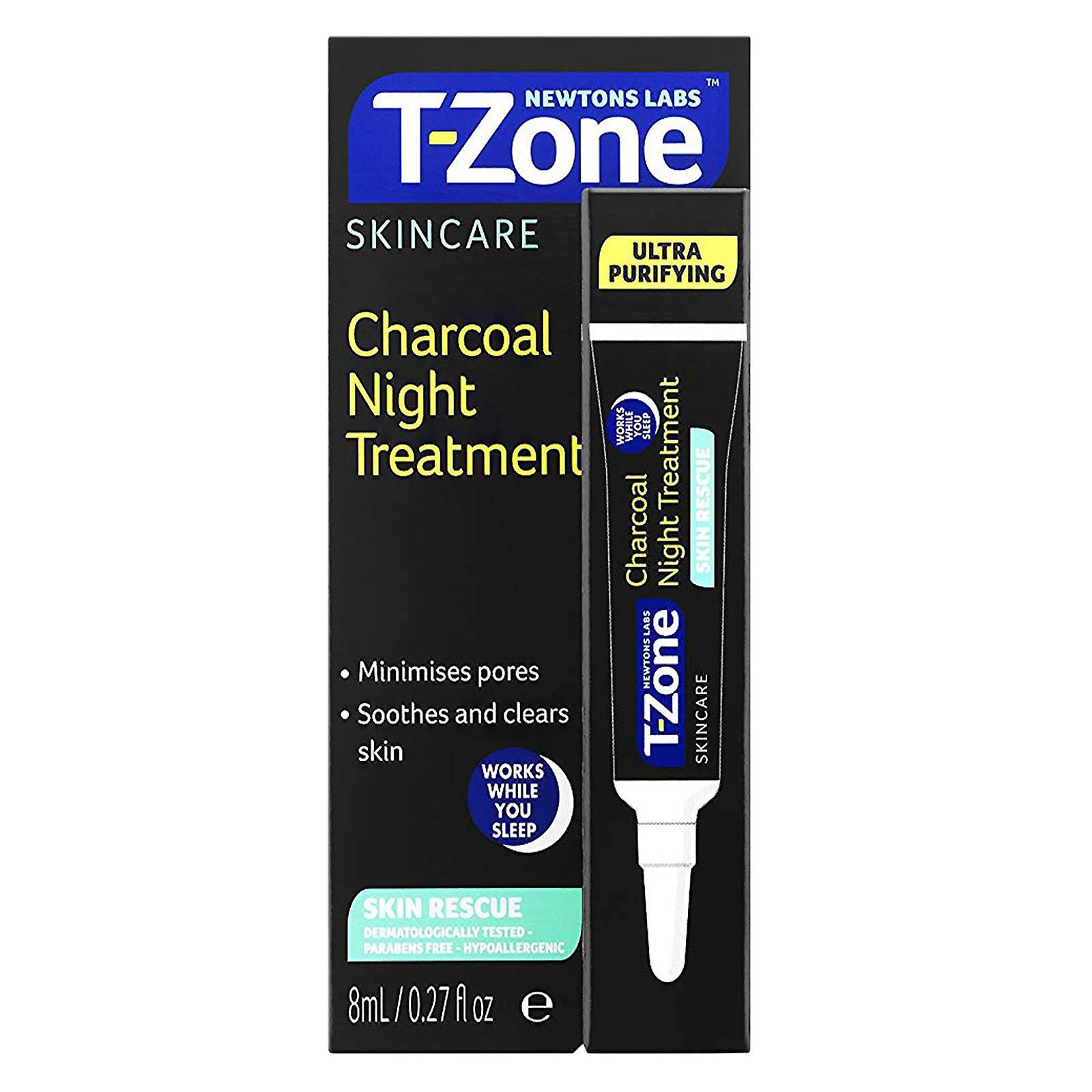 T-Zone Skincare Charcoal Night Treatment 8ml