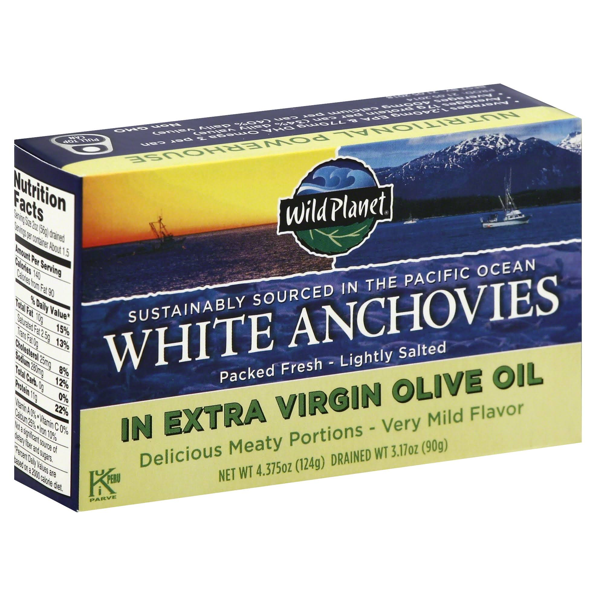 Wild Planet White Anchovies in Extra Virgin Olive Oil