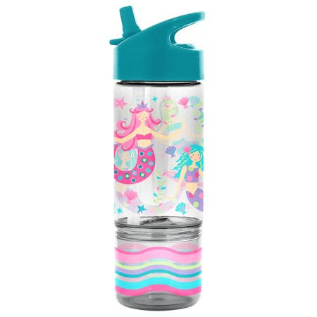 Stephen Joseph Mermaid Sip and Snack Bottle - 8oz