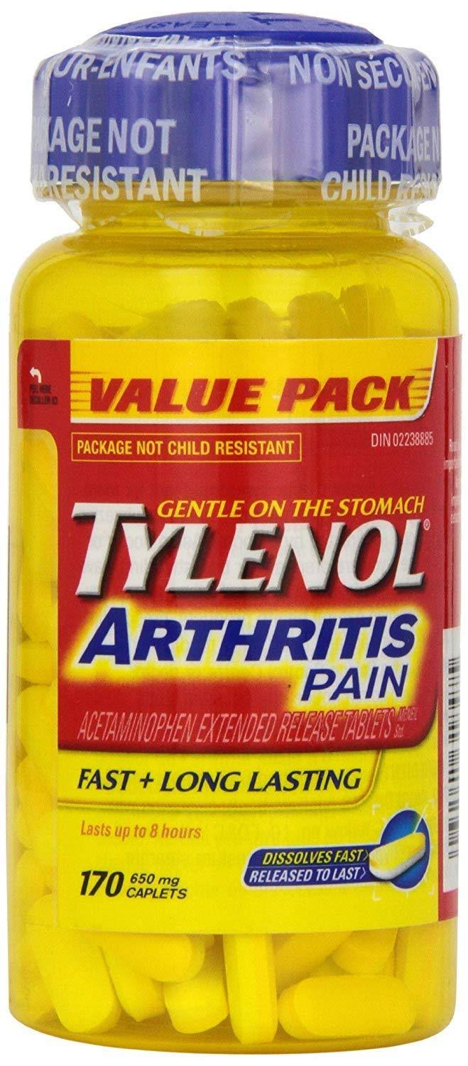 Tylenol Arthritis Pain Acetaminophen Extended Release Tablets - 650mg, 170 Caplets