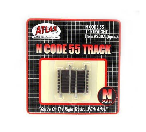 "Atlas 2007 N Code 55 1"" Straight Track (6)"