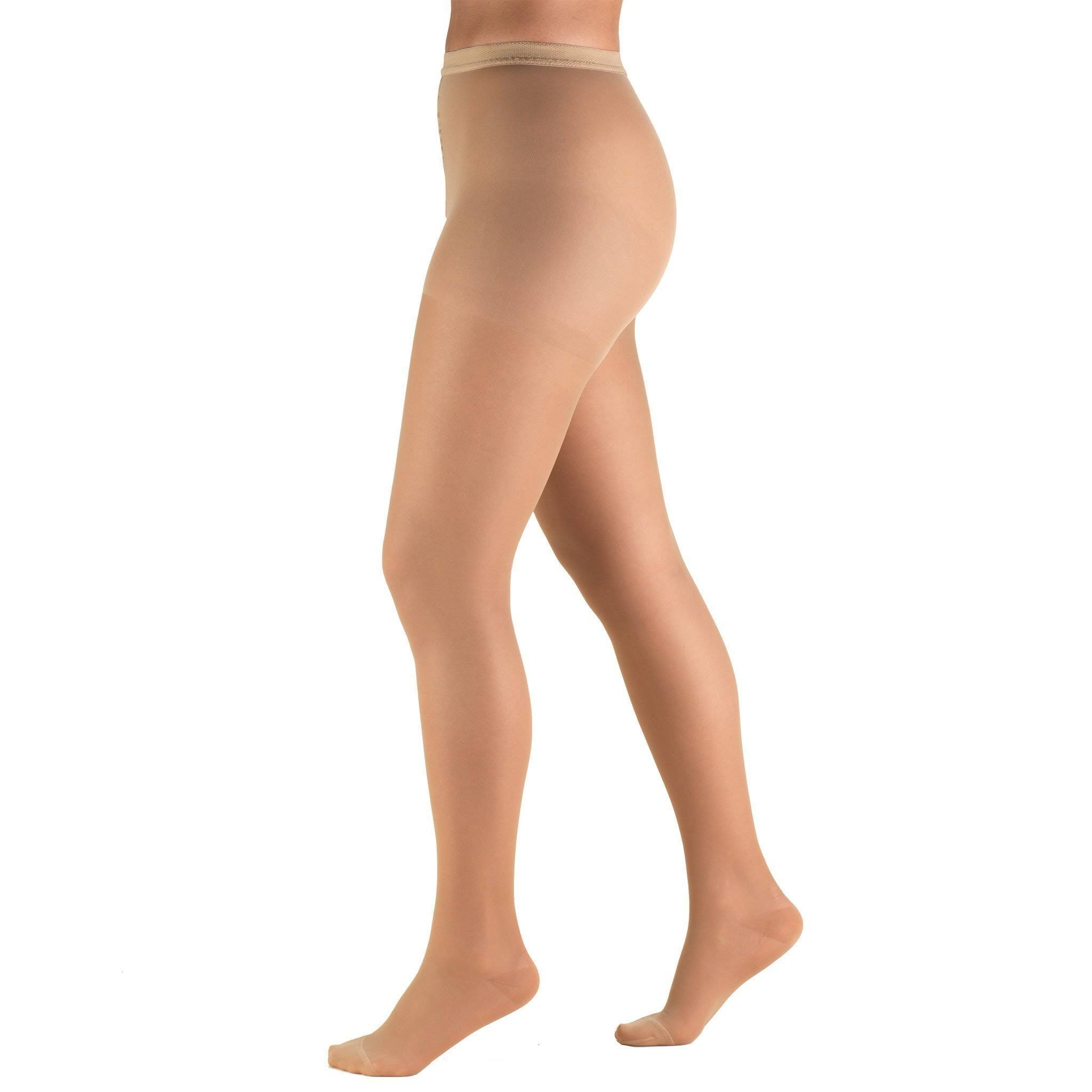 Truform Women's 15-20 mmHg Sheer Compression Pantyhose - Beige, Medium