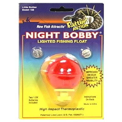 Night Bobby 158-R Lighted Fishing Float - Red, 1 3/4""