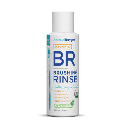 Essential Oxygen Organic Brushing Rinse - Peppermint, 3oz